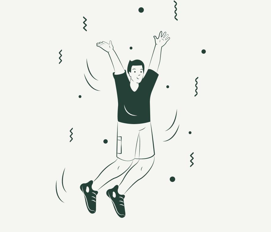 Ilustración persona que ha alcanzado la meta